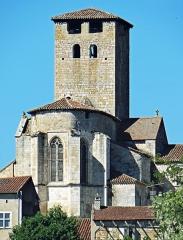 Eglise Saint-Géraud - Français:   Monsempron-Libos - Prieuré Saint-Géraud - Chevet de l\'église