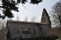 Eglise Saint-Martin - English: Iglesia de Poussignac, lado Norte