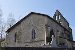 Eglise Saint-Martin - English: Ábside de la Iglesia de Pousignac