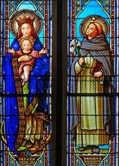 Eglise Saint-Jean - Français:   Prayssas - Église Saint-Jean - Vitraux: Vierge à l\'Enfant et saint Dominique (1877 - atelier H. Feur)