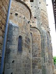 Restes de l'église Saint-Front - Français:   Saint-Front-sur-Lémance - Église Saint-Front - Chevet: absidiole sud et abside
