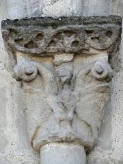 Eglise Sainte-Livrade - Français:   Sainte-Livrade-sur-Lot - Église Sainte-Livrade - Chevet - Chapiteau arcature nord