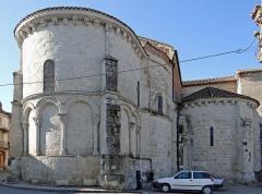 Eglise Sainte-Livrade - Français:   Sainte-Livrade-sur-Lot - Église Sainte-Livrade - Chevet - Abside et absidiole