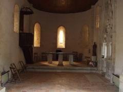 Commanderie de Caubin - Français:   L\'intérieur de la chapelle.