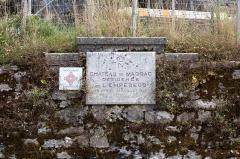 Château de Marracq -  Commemorative plaque of the castle of Marracq.