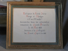 Eglise Saint-Esprit - English: Relic of Sainte-Irene in the church of Holy-Spirit in Bayonne, Pyrénées Atlantiques, France