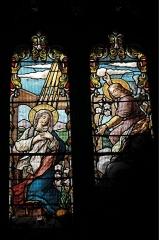 Eglise Saint-Esprit - Deutsch: Katholische Kirche Saint-Esprit in Bayonne im Département Pyrénées-Atlantiques (Region Nouvelle-Aquitaine/Frankreich), Bleiglasfenster; Darstellung: Verkündigung