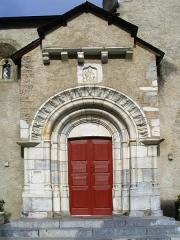 Eglise Saint-Jacques le Majeur -  Eglise St Jacques - Béost - Pyrénées Atlantiques France Portail de marbre blanc. Author:P.Charpiat 2007