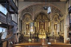 Eglise Saint-Vincent - Deutsch: Kirche Saint-Vincent in Ciboure im Département Pyrénées-Atlantiques (Region Aquitaine-Limousin-Poitou-Charentes/Frankreich), Chor mit Altarretabel