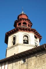 Eglise Saint-Vincent - Deutsch: Kirche Saint-Vincent in Ciboure im Département Pyrénées-Atlantiques (Region Aquitaine-Limousin-Poitou-Charentes/Frankreich), Glockenturm