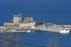 Fort du Socoa - English:  The fort of Socoa seen from Bordagain.