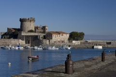 Fort du Socoa -  Castle of Socoa. Seen from the harbor breakwater Socoa.
