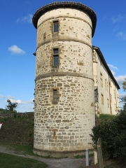 Ancien château des Barons d'Espelette ou Ezpeleta - English: Tower of the townhall-castle of Espelette, (Pyrénées-Atlantiques, France).