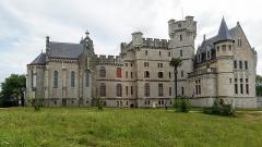 Château Abbadia - English: Abbadia castle (North side)