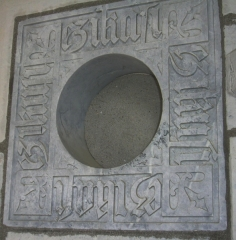 Château Abbadia - English: Basque inscription in the façade of Abbadia castle, Hendaye (France), meaning