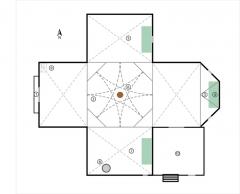 Eglise Saint-Blaise -  Simplified plan for Church of L'Hôpital-Saint-Blaise.