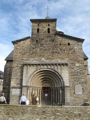 Eglise Saint-Blaise - English: Facade of the church of l'Hôpital Saint-Blaise (Pyrénées-Atlantiques)