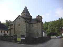Eglise Saint-Blaise - English: L'Hôpital-Saint-Blaise (Pyr-Atl, Fr) L'église, coté approx. nord