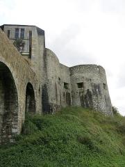Vieux Château de Mauléon - English: The North-West side of the castle of Mauléon-Licharre, (Pyrénées-Atlantiques, France).
