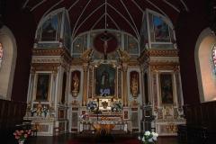 Eglise Saint-Cyprien -  Mendionde, quartier Lekorne, église du XVième siècle, l'autel