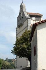Eglise Saint-Cyprien -  Mendionde, quartier Lekorne, église du XVième siècle, clocher-pignon