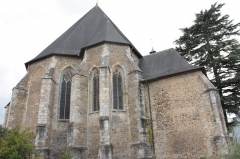 Eglise Saint-Girons - Français:   Arrière de l\'église Saint-Girons de Monein