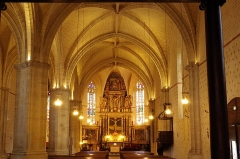 Eglise Saint-Girons - Français:   Nef de l\'église Saint-Girons de Monein