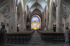Eglise Sainte-Foy - Deutsch: Katholische Kirche Sainte-Foy in Morlaàs im Département Pyrénées-Atlantiques (Nouvelle-Aquitaine/Frankreich), Innenraum