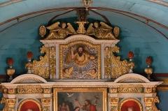 Eglise Saint-Jean-Baptiste -  Fronton of the altarpiece of the main altar altarpiece.