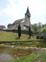 Eglise Saint-Michel - English: Ordiarp_(Pyr-Atl,_Fr) church and one of the fords over the Arangorena