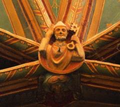 Eglise Saint-Pierre - Français:   Orthez - Église Saint-Pierre - Clé de voûte de l\'abside