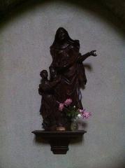 Eglise Saint-Pierre - Français:   Statue de sainte Anne avec la sainte vierge, bois
