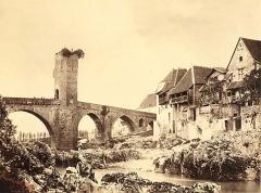 Vieux Pont - English: Farnham Maxwell-Lyte - Pont d'Orthez, Basses-Pyrénées.