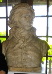 Maison natale de Charles Bernadotte - English: Bust of King Carl XIV John of Sweden-Norway (before he was Swedish royalty) at Bernadotte Museum, as released by image creator Ristesson;  Place: Rue Tran, Pau, France