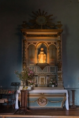 Eglise Saint-Pierre -  Altar and altarpiece of the Virgin (north transept).