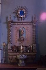 Eglise Saint-Pierre -  Altar and altarpiece of John th Baptist.