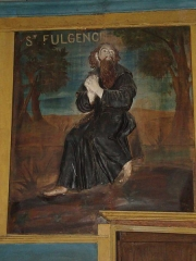 Eglise de Sarrance - English: Sarrance (Pyr-Atl, Fr) église, painting of Saint Fulgence.
