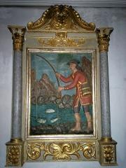 Eglise de Sarrance -  Representacion barròca deu pescador.