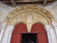 Eglise Saint-André -  Author: Sebb Date: 07/2006 Description: Tympan de l'église Saint-André de Sauveterre-de-Béarn