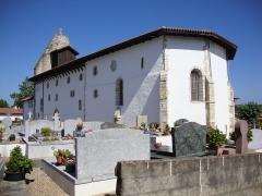 Eglise Saint-Laurent - English: Arbonne (Pyr-Atl., Fr) church with apse