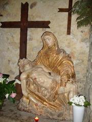 Eglise Saint-Laurent -  Arbonne (Pyr-Atl., Fr) Piéta dans l'église St.Laurent.
