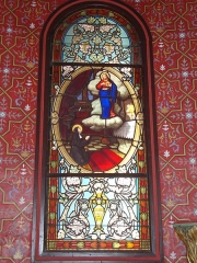 Eglise Saint-Laurent - English: Arbonne (Pyr-Atl., Fr) stained glass window: Vision of the Sacred Heart