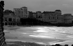 Casino municipal -  Biarritz beach in winter