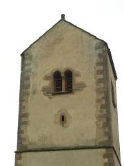 Eglise protestante de Fouday -  Le clocher roman de l'église de Fouday (Bas-Rhin)