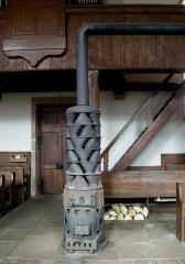Eglise protestante de Fouday - Français:   Poêle De Dietrich à l\'église de Fouday (Bas-Rhin)