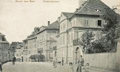 Ancien Hôtel Marco - Français:   Carte postale Gruss aus Barr-Sulzerstrasse. Bibliothèque nationale et universitaire de Strasbourg