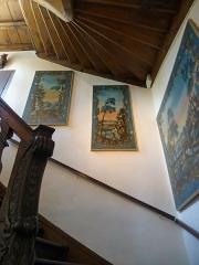 Ancien Hôtel Marco - Français:   Musée de la Folie Marco à Barr (Bas-Rhin): escalier central du bâtiment principal, protégé par les MH.