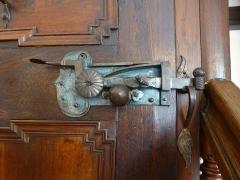 Ancien Hôtel Marco - Français:   Musée de la Folie Marco à Barr (Bas-Rhin): porte et sa serrure, en provenance du château d\'Andlau.
