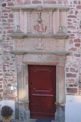 Château -  Détail du château de Birkenwald (Bas-Rhin) construit en 1562 et classé monument historique.