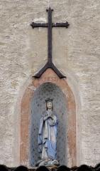 Couvent de Bischenberg (église catholique Notre-Dame) -  Alsace, Bas-Rhin, Bischoffsheim, Couvent de Bischenberg (PA00084622, IA00075456).  Bâtiment agricole, Niche avec Immaculata (1857).